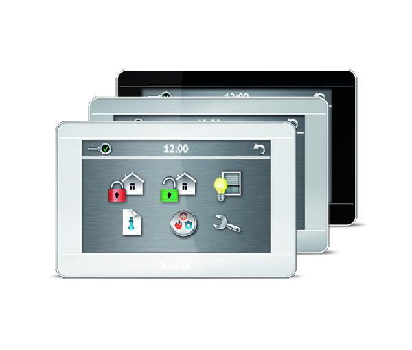 """La tastiera INT-TSH garantisce una gestione intuitiva dei sistemi di allarme basati sulle centrali INTEGRA, INTEGRA Plus VERSA e VERSA Plus. Dispone di un ampio schermo touchscreen da 7 pollici, ideale per gli utenti alla ricerca di un'interfaccia che permetta di gestire in modo semplice tutte le azioni quotidiane, simili a quelle già disponibili per smartphone e tablet. Oltre ai comandi di base per inserire e disinserire il sistema, il INT-TSH permette di eseguire sequenze complesse di comandi con un solo tocco utilizzando la funzione MACRO. Caratteristica che rende la tastiera, l'interfaccia ideale per gestire le funzioni domotiche offerte dalle centrali INTEGRA e INTEGRA plus. La tastiera INT-TSH fornisce inoltre un rapido e facile accesso alle informazioni sullo stato del sistema in tempo reale. INT-TSH ha widget ad icone grandi e la possibilità di personalizzare le informazioni visualizzabili sullo schermo, basta una sola occhiata per controllare che nell'impianto tutto proceda correttamente. INT-TSH è anche una cornice digitale, è possibile infatti personalizzare lo screensaver dell'interfaccia in modalità stand-by con qualunque immagine o sequenza di immagini. – tastiera per INTEGRA, INTEGRA Plus VERSA VERSA Plus (compatibile con INTEGRA fw v1.14 o successivi o VERSA fw v1.06 o successivi) – schermo capacitivo da 7 """" touchscreen, azionabile con un leggero tocco – interfaccia grafica con icone grandi a colori – funzioni macro per un controllo semplice ed intuitivo del sistema di allarme e di automazione domestica (supportato solo dalle centrali INTEGRA e INTEGRA Plus) – schermata di stato personalizzabile per soddisfare le preferenze dell'utente – 2 zone (supportato solo dalle centrali INTEGRA e INTEGRA Plus) – i tasti PANICO, INCENDIO, AUX sono attivabili da tastiera tramite pulsante rapido – disponibile nei colori: silver (INT-TSH-SSW), nero (INT-TSH-BSB) e bianco (INT-TSH-WSW)"""