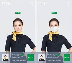 Dispositivo per il riconoscimento facciale ed il rilevamento della temperatura facciale